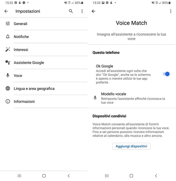 Google Assistant su Android