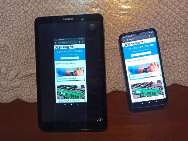Mirroring Telefono Tablet aranzulla.it