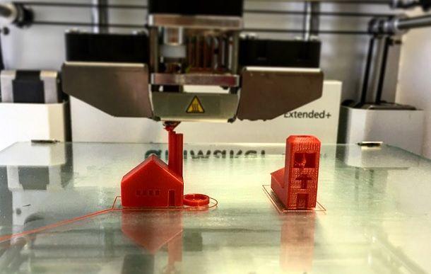 Stampante 3D in azione