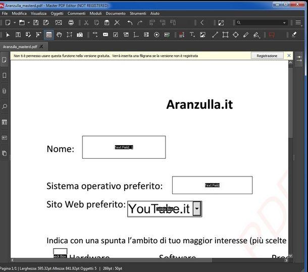 Salvare il PDF creato con Master PDF Editor