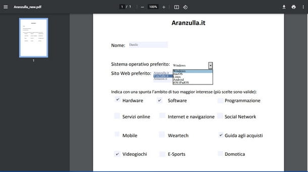Aprire il PDF editabile per compilarlo