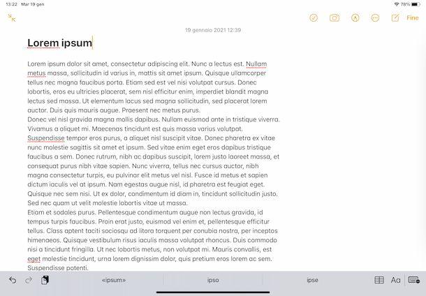 Note app iPad
