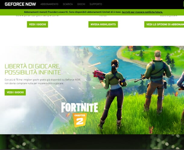 GeForce NOW Fortnite