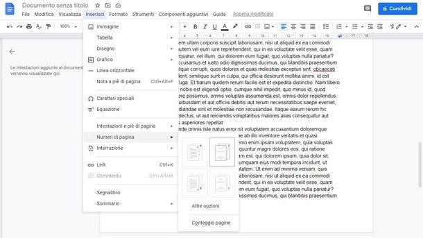 Utilizzare altri programmi per numerare le pagine della tesi