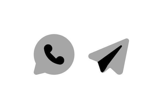 Icone WhatsApp e Telegram