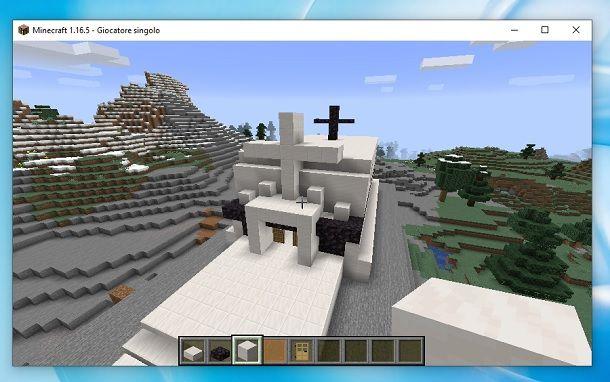 Chiesa finita Minecraft