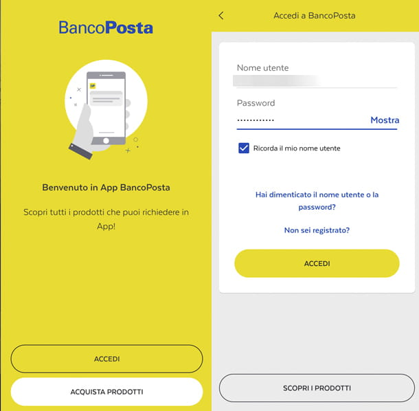 Come attivare app BancoPosta accesso