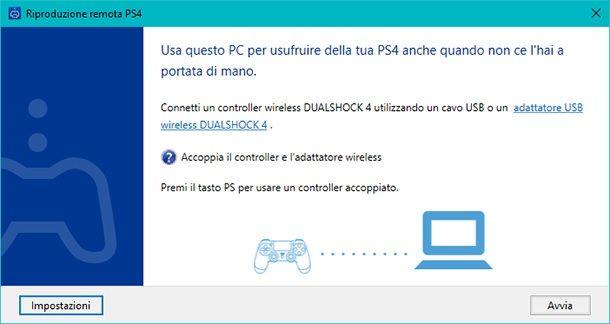 Riproduzione remota PS4 PC