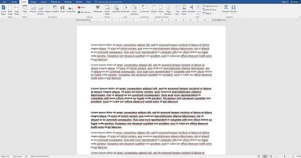 Numerare tutte le pagine della tesi con Word