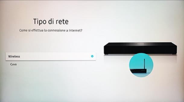 Come collegare TV Samsung a Internet wireless