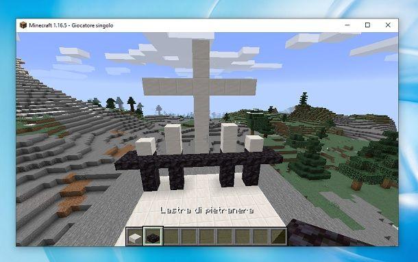 Rimpiazza colonne Minecraft