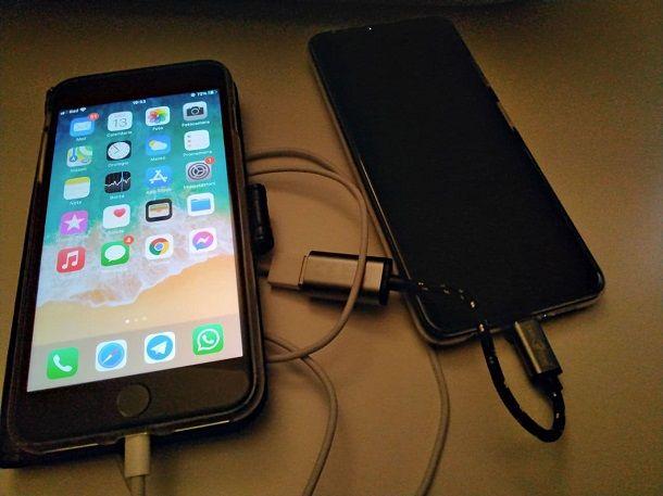 Come caricare il telefono con un altro telefono: cavo USB OTG