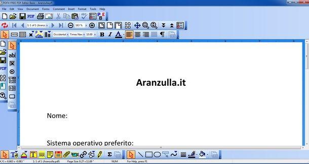 Aprire e modificare un file PDF con PDFill