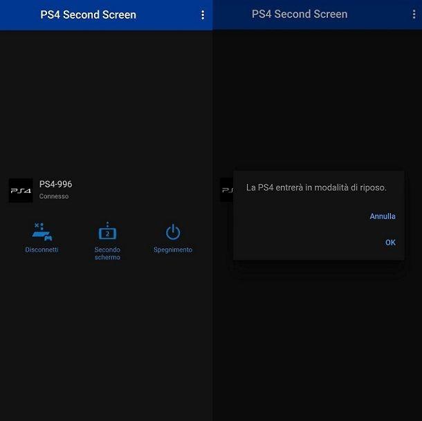 Secondo schermo PS4