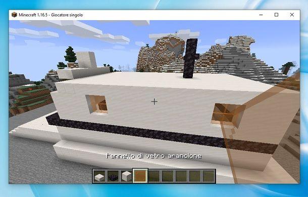 Pannello vetro Minecraft