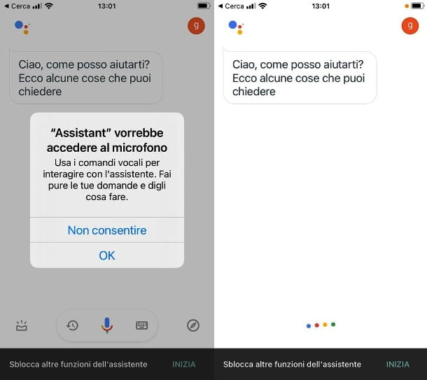 Google Assistente su iPhone