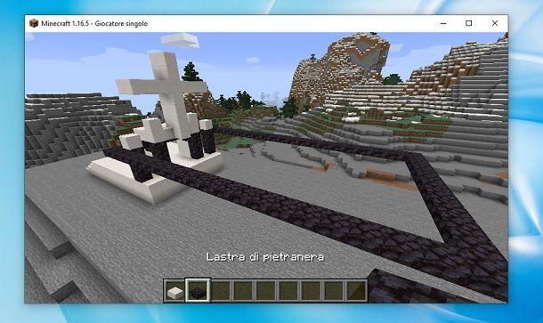 Pietranera retro Minecraft