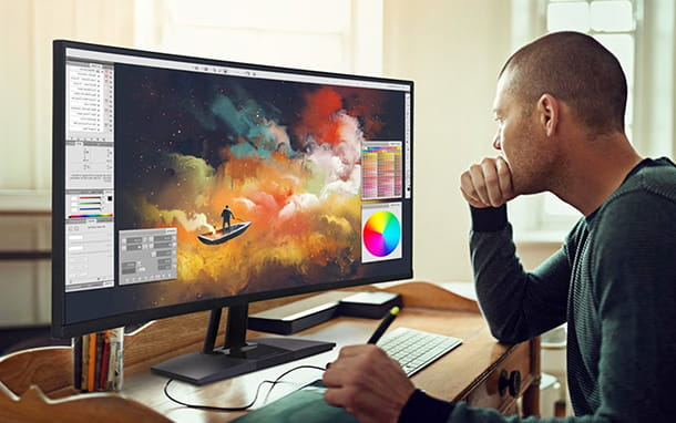 dimensioni e tipo di monitor per fotografia