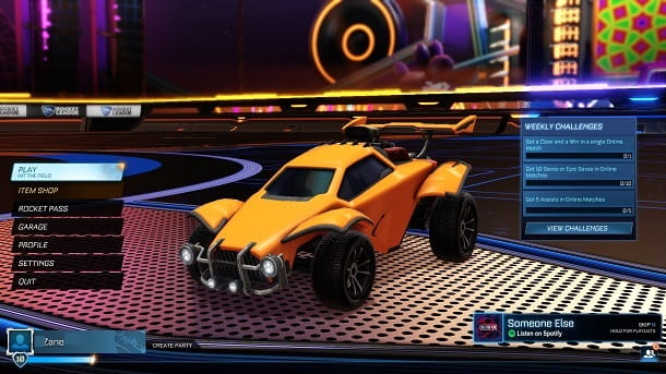Rocket League Epic Games in inglese