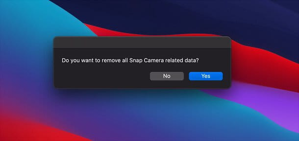 Come disinstallare Snap Camera su Mac