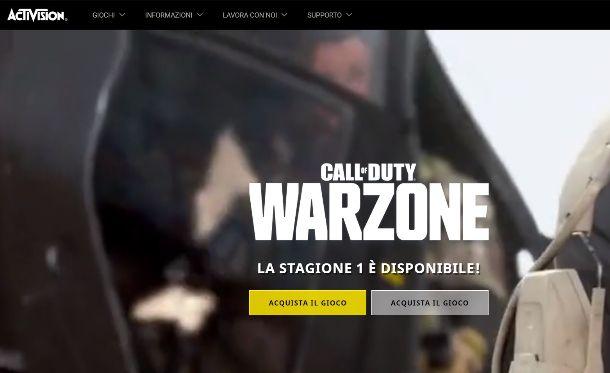 Warzone sito