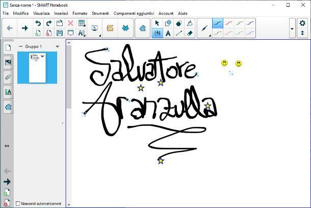 Come si utilizza l'inchiostro digitale in Smart Notebook