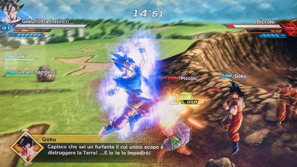 Goku Ultra Instinct in azione Dragon Ball Xenoverse 2