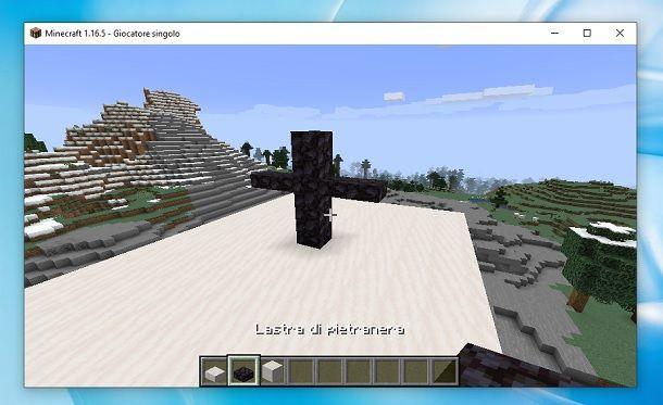 Croce tetto Chiesa Minecraft