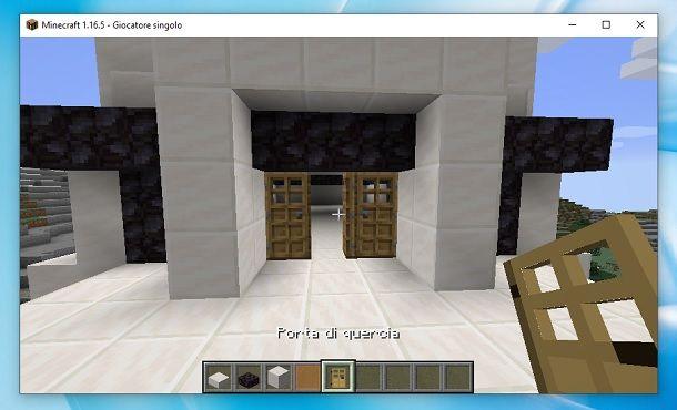 Porta di quercia Minecraft