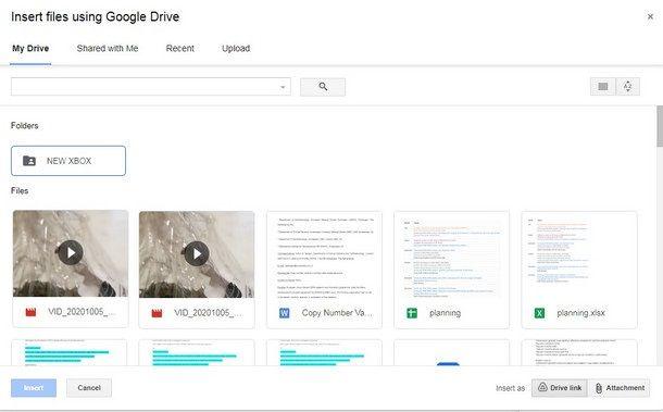 Inserire allegati molto pesanti in Gmail utilizzando Google Drive