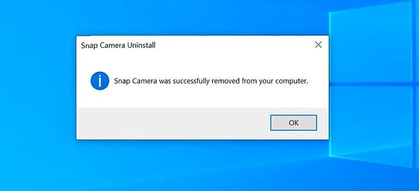 Come disinstallare Snap Camera