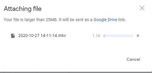 Caricare da smartphone e tablet file molto grandi come link Drive da Gmail