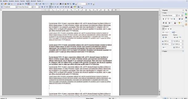 Numerare tutte le pagine della tesi con OpenOffice