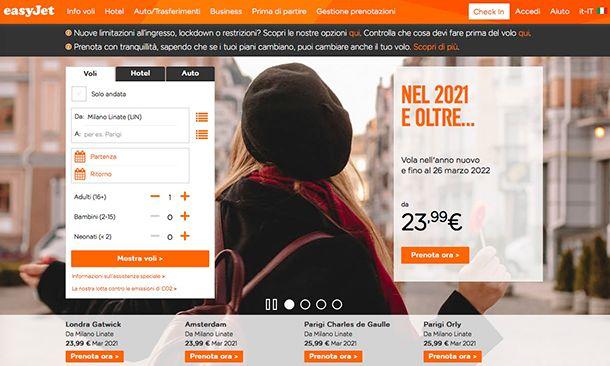 Come cancellare voli easyJet online