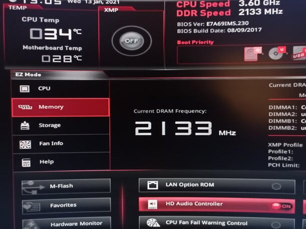Come vedere la frequenza della RAM