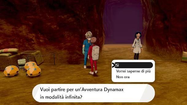 Avventura Dynamax in modalita infinita