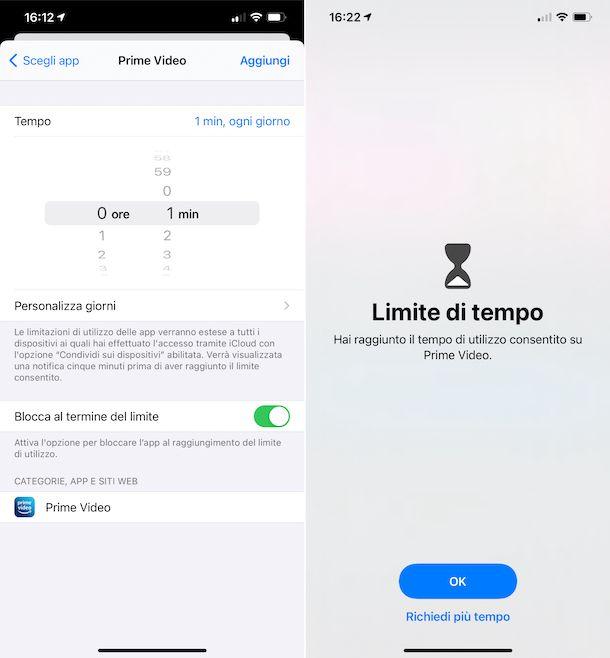 Tempo di utilizzo iOS
