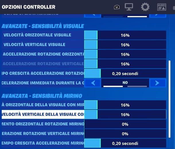 Fortnite PS4 menu mira