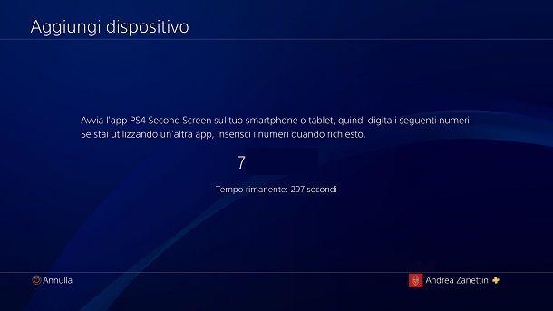 Aggiungi dispositivo PS4