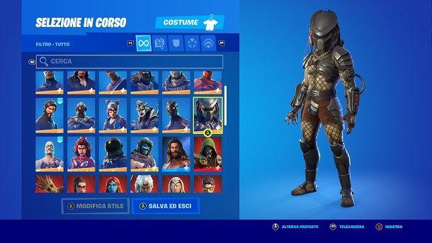 Skin Predator Fortnite