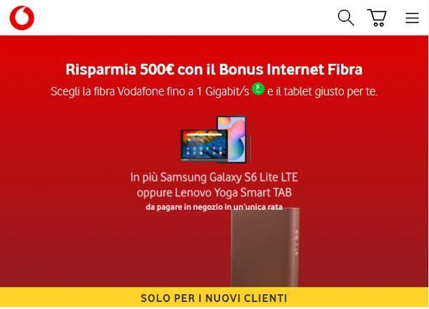 Come ottenere il bonus PC Vodafone
