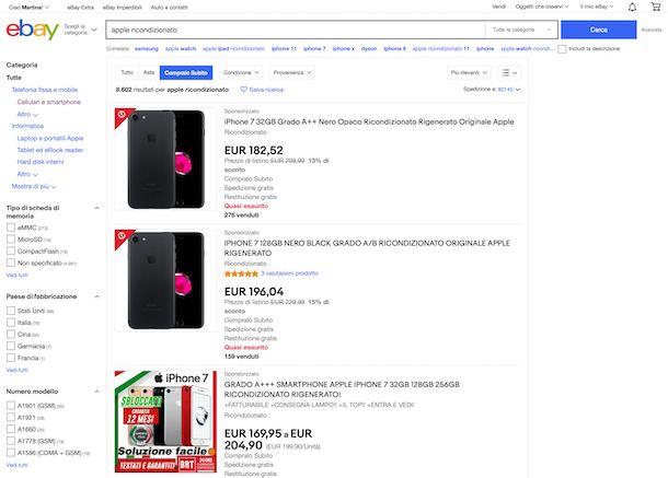 eBay Ricondizionati