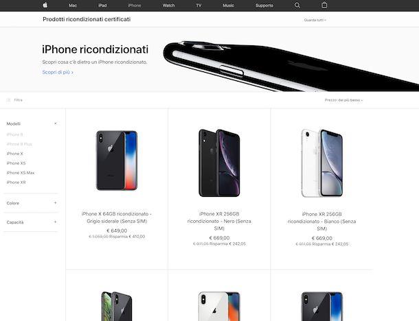 Ricondizionati sito Apple