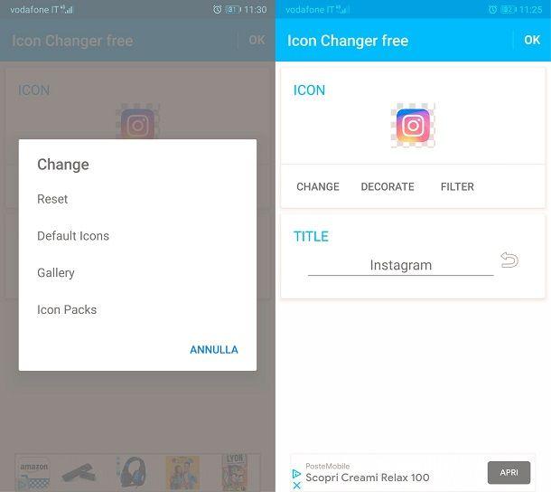 Come cambiare logo instagram su Android con Icon Changer Free