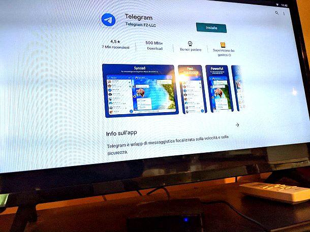 Come installare Telegram su TV