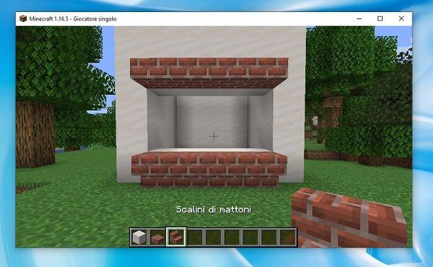 Scalini di mattoni Minecraft
