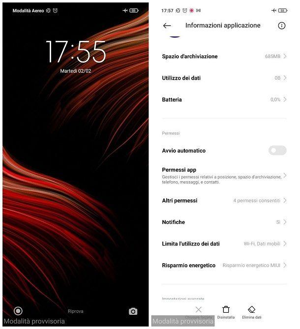 Come disattivare la modalità sicura Android