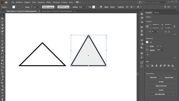 come disegnare un triangolo su illustrator