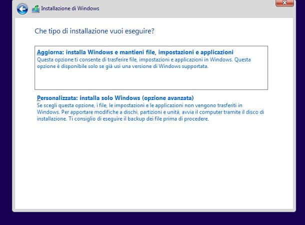 Come aggiornare Windows Vista a Windows 10