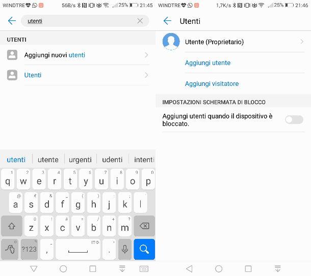 Modalità ospite Android